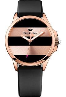 Relógio Juicy Couture Feminino Borracha Preta - 1901368