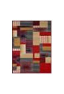 Tapete Retangular Veludo Marbella Illusione Artistic Vermelho 60X120 Cm