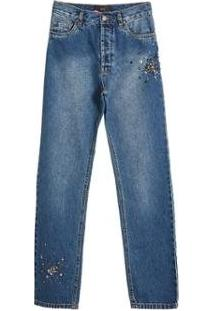 Calca Jeans Pedra Paete Eva - Feminino