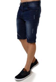 Bermuda Jeans Masculina Dixie Azul