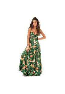 Vestido Green Vibes Fille Multicolorido
