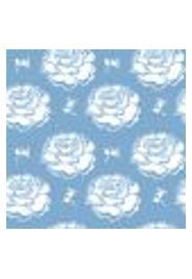Papel De Parede Adesivo - Rosa Branca - 048Ppf