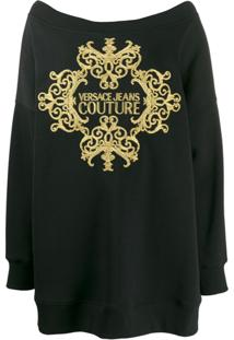Versace Jeans Couture Oversized Knitted Jumper - Preto