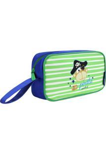 Necessaire Estojo Infantil Macaco Jacki Design Pequeninos Verde