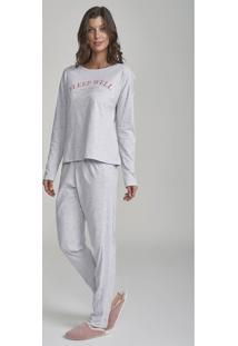 Pijama Cor Com Amor Rise Up Cinza