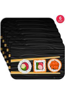 Jogo Americano Love Decor Wevans Sushi Kit Com 6 Pçs