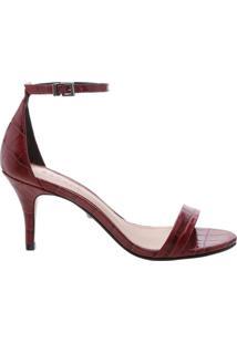 Sandália Gisele Kitten Heel Croco Red | Schutz