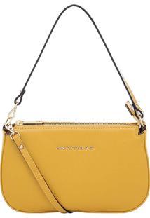 Bolsa Smartbag Transversal Couro - Feminino-Amarelo