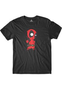 Camiseta Skill Head Deadpool Preto