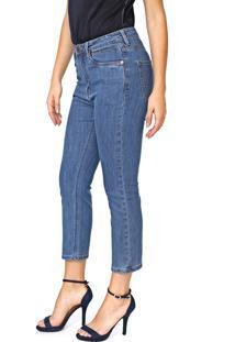 Calça Jeans Carmim Reta Cropped Provença Girl Azul