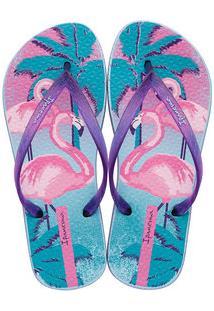 Chinelo Feminino Estampa Flamingo Ipanema 25877