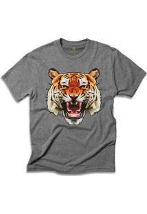 Camiseta Animal Cool Tees Tigre China Town - Masculino