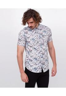 Camisa Manga Curta Em Tricoline