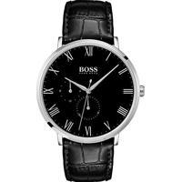 b12e255c368 Relógio Hugo Boss Masculino Couro Preto - 1513616