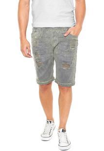 Bermuda Jeans John John Clássica Cinza