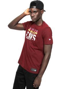Camiseta New Era Cleveland Cavaliers Vermleha