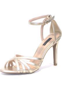Sandalia Emporionaka Metalizada Dourado - Dourado - Feminino - Dafiti
