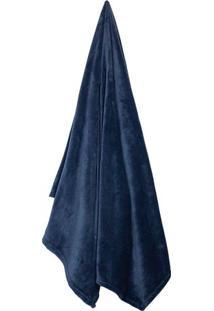 Cobertor Velour De Casal- Azul Marinho- 180X220Cm