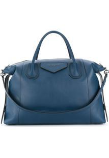 Givenchy Bolsa Tote Antigona Soft Média De Couro - Azul