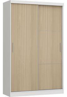 Modulo Com 2 Portas E 2 Gavetas Infinity 3825A-Castro Móveis - Branco / Nogueira