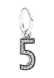 Charm Pendente ''5''- Prata- Pandorapandora
