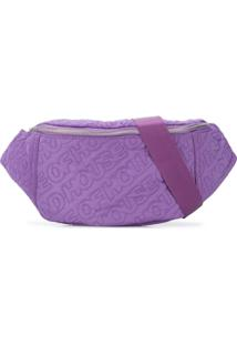 House Of Holland Pochete Com Bordado De Logo - Roxo