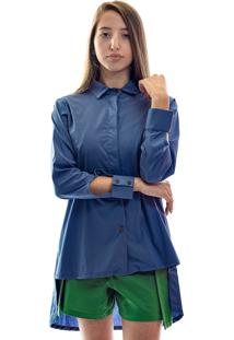 Camisa Muká Tricoline Azul