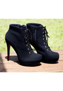 Ankle Boot Dm Extra Nobuck Preto Dme1774156 Np Numeração Especial 41 42 43 44 Tamanhos Grandes