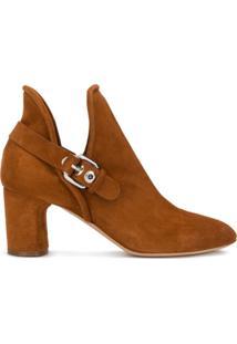 Casadei Ankle Boot Com Fivela - Marrom
