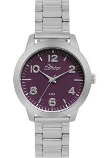 Relógio Condor Feminino Bracelete Prata - Co2036Kup/T3G Co2036Kup/T3G - Feminino-Prata