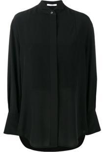 Givenchy Blusa Com Detalhe De Babado - Preto