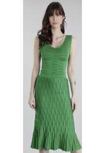 Body Gig Couture Em Jacquard De Tricô Verde