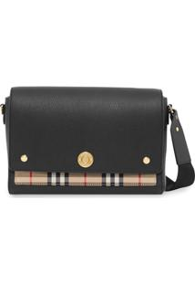 Burberry Vintage Check Panel Crossbody - Preto