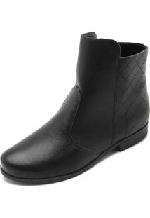 Bota Dafiti Shoes Matelassê Preta