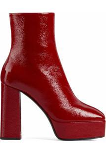 Giuseppe Zanotti Ankle Boot Plataforma - Vermelho