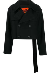 Colville Cropped Trench Coat - Preto