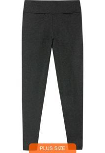 Calça Cinza Escuro Legging Em Lycra® Plus