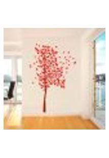 Adesivo De Parede Arvore Com Folhas Delicadas - Eg 150X70Cm