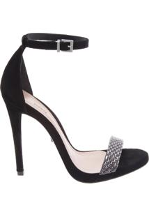 Sandália Ankle Strap Black | Schutz