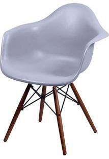 Cadeira Eames Com Braco Base Escura Cinza Fosco - 44882 - Sun House