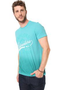 Camiseta Malwee Reta Estampada Azul