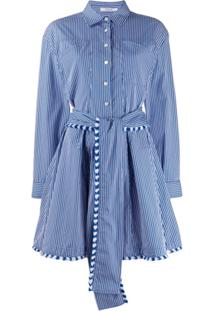 Derek Lam 10 Crosby Striped Shirt Dress - Azul