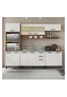 Cozinha Compacta New Jazz Iv 11 Pt 2 Gv Off White E Freijó