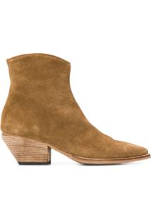 Officine Creative Suede Ankle Boots - Marrom