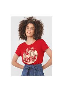 Camiseta Mob Tropical Desert Vermelha