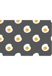 Tapete Transfer Ovos- Amarelo & Branco- 60X40Cm-Tapetes Junior