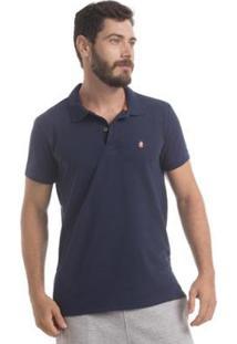 Camisa Polo Piquet Zaiden Style S1 Masculina - Masculino-Azul Escuro