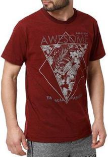 Camiseta Angero Masculina - Masculino-Bordô