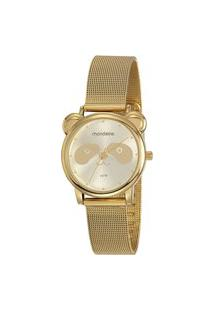 Kit De Relógio Analógico Mondaine Feminino + Pulseira - 53784Lpmvde1K1 Dourado