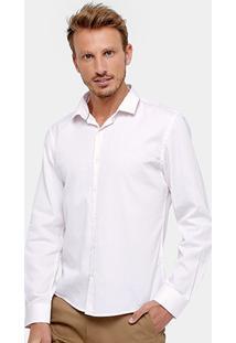 Camisa Slim Fit Ellus Maquinetado Pinpoint Masculina - Masculino